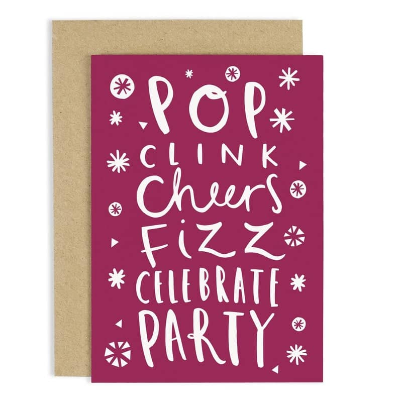 Pop Clink Cheers Card