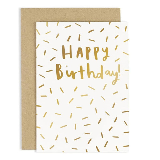 gold foil birthday sparkles card