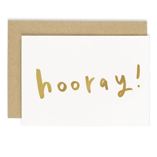 gold hooray birthday card
