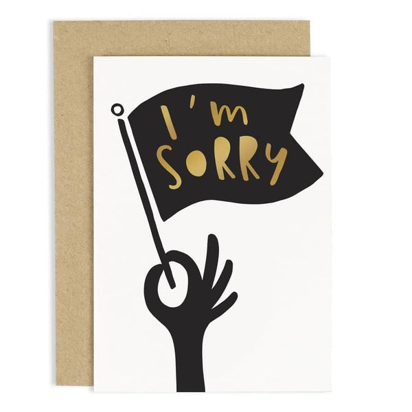 hand lettered typography I'm sorry card