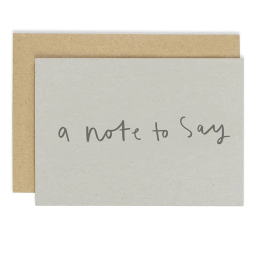 a note to say card