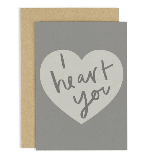 i heart you card