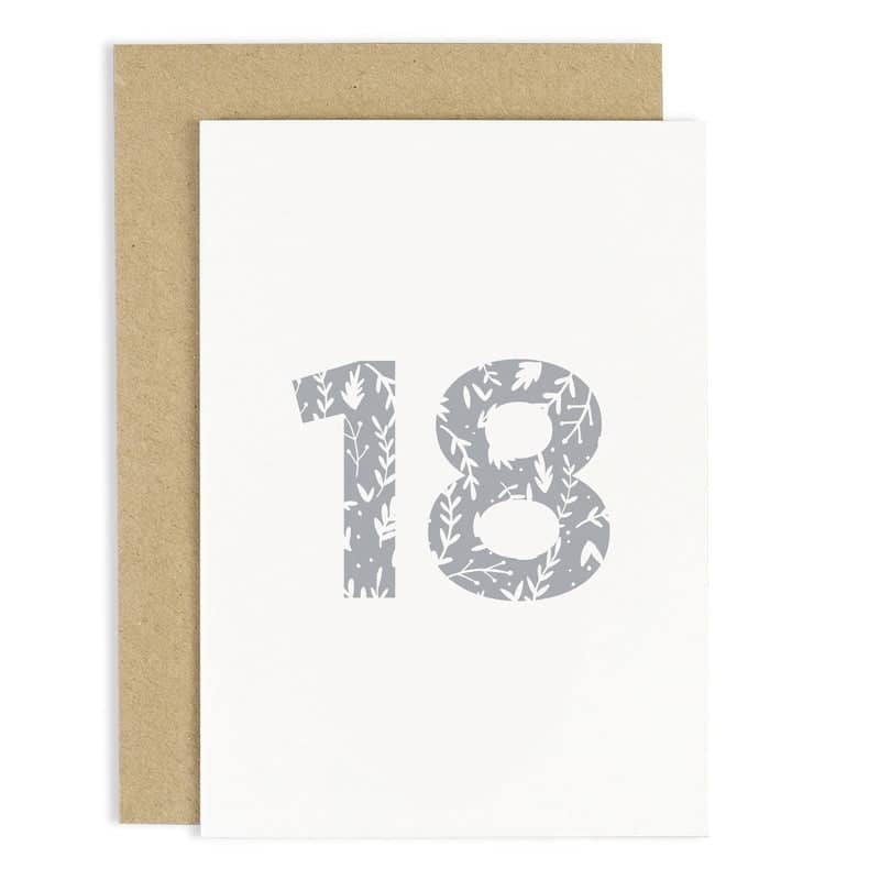 Floral 18th Birthday Card