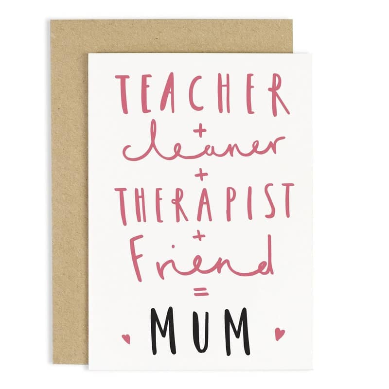 EQUALS MUM MOTHERS DAY CARD
