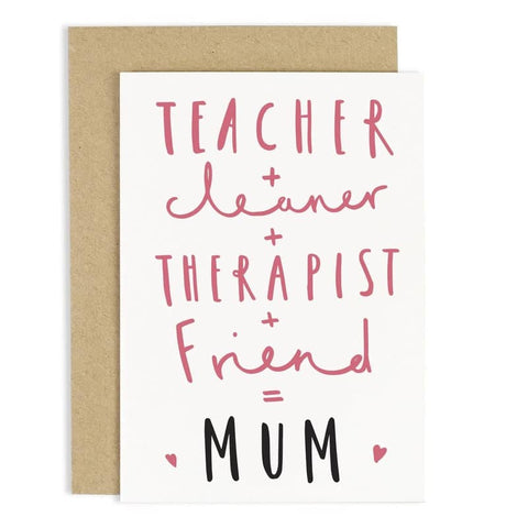 Equals Mother's Day Card