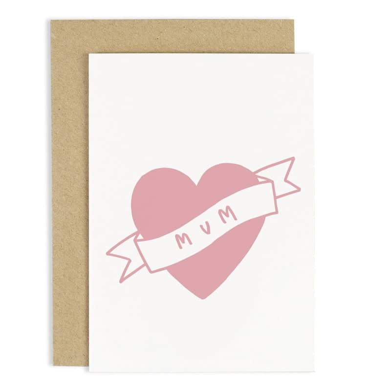 hand lettered mum tattoo card