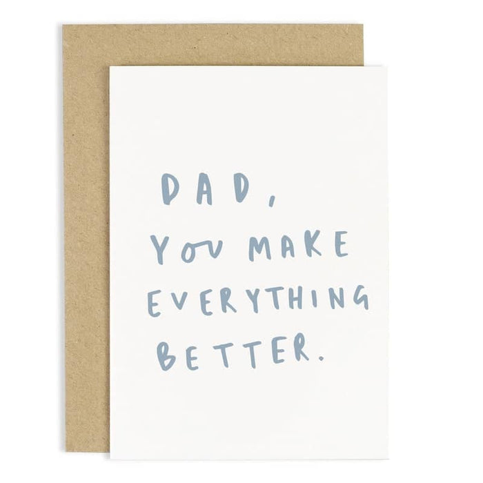 hand lettered father's day card