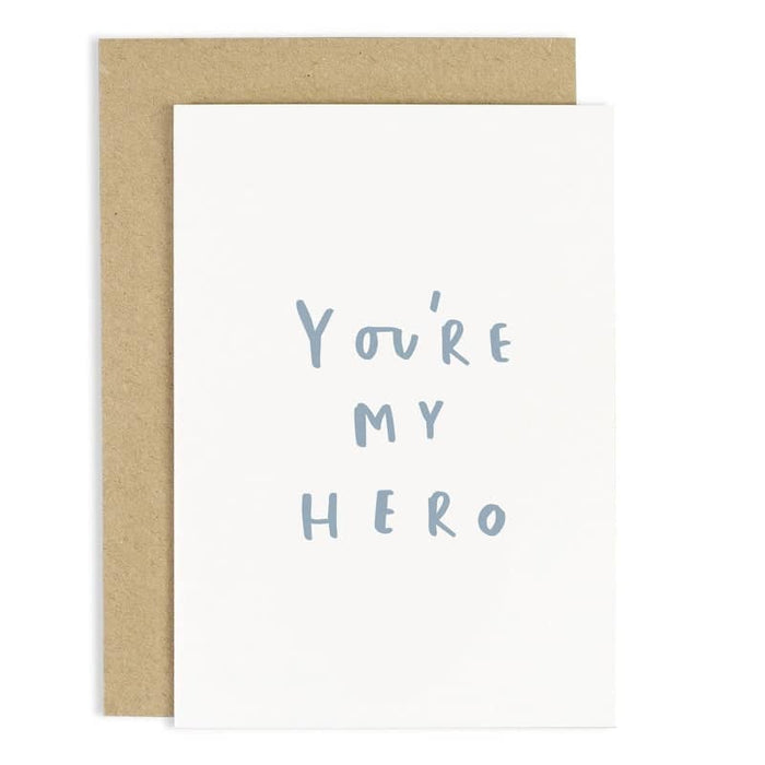 you're my hero father's day card