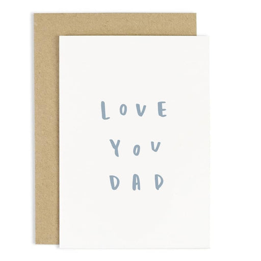 love you dad greeting card