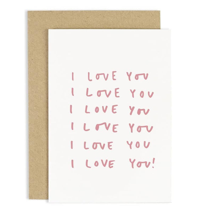 repeated i love you card
