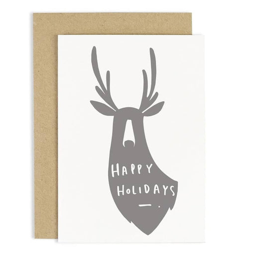 happy holidays deer christmas card