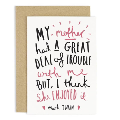 Motherly Quote Mother's Day Card