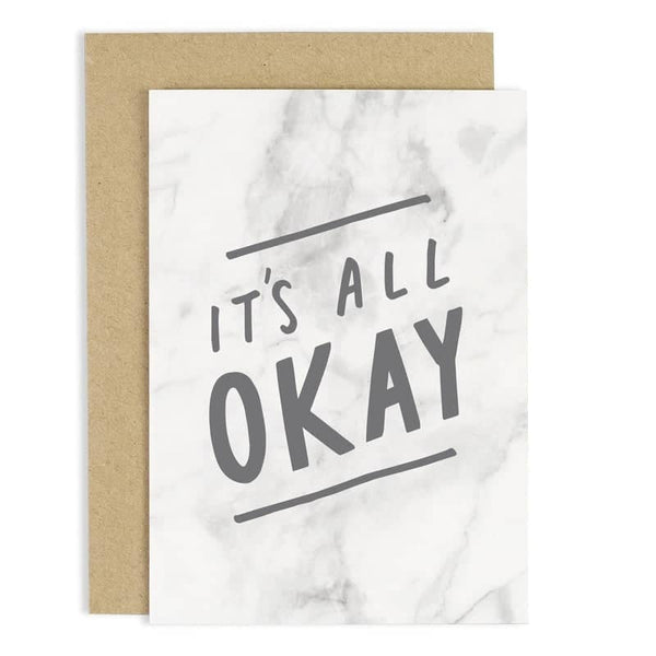 it's all okay greeting card