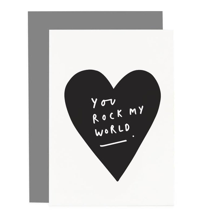 You Rock My World Heart Card