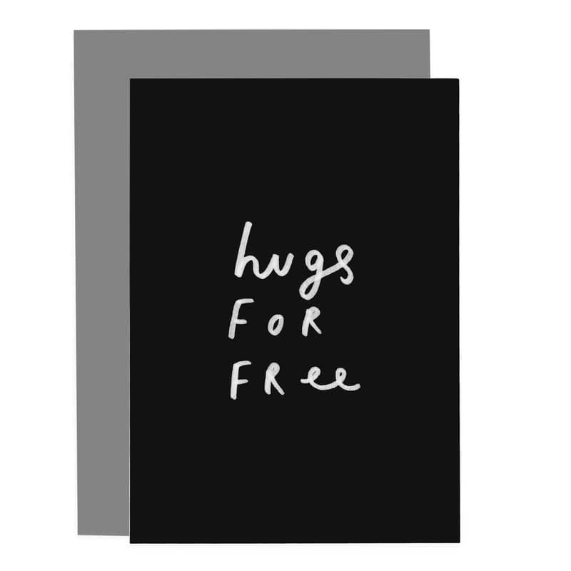 hugs for free greeting card