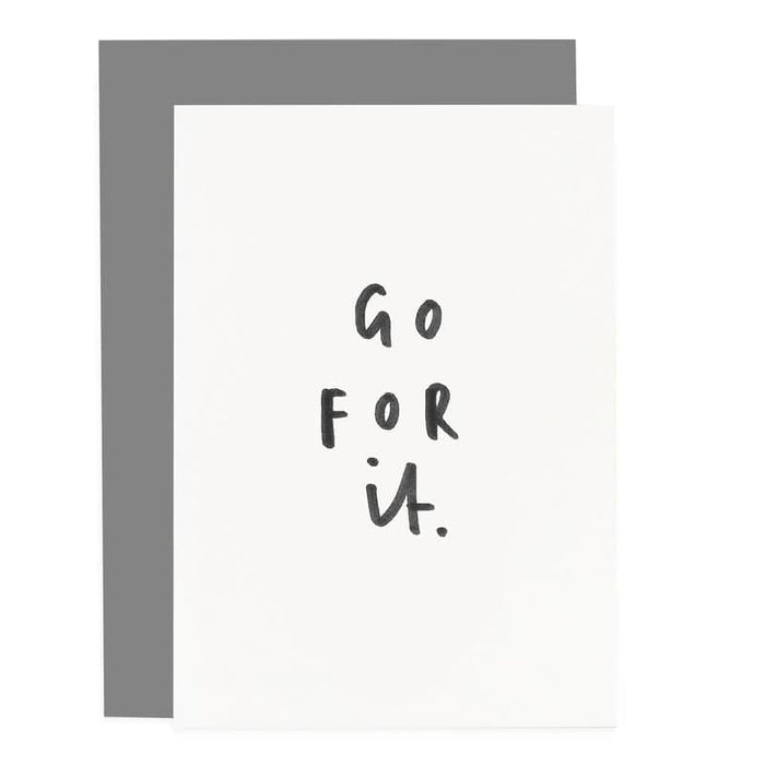 go for it greeting card