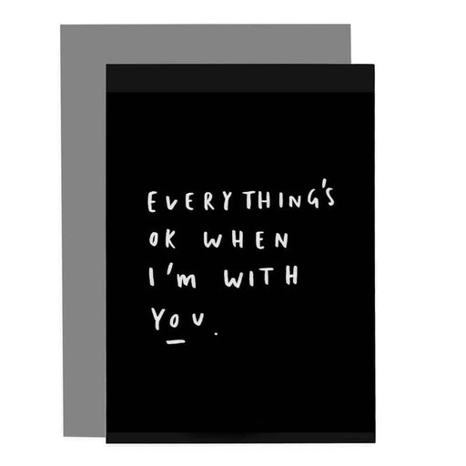 everything's ok card