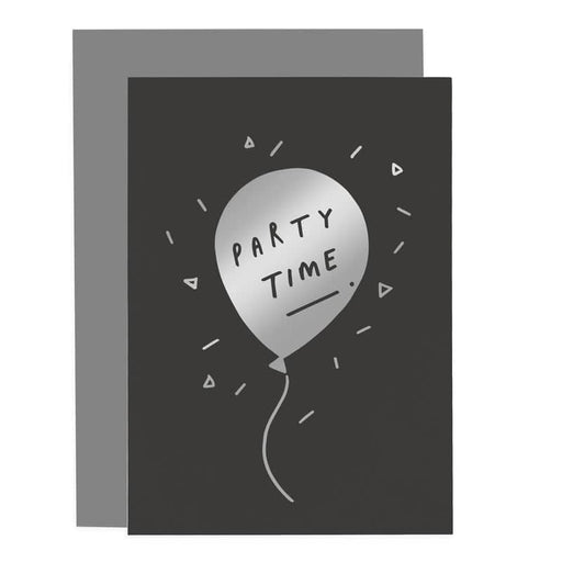 party time balloon birthday card