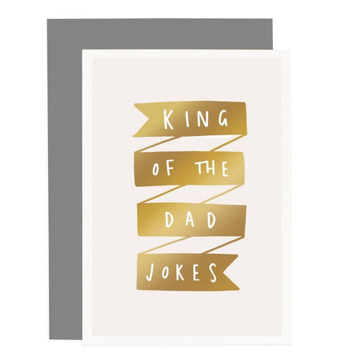 king of the dad jokes fathers day card