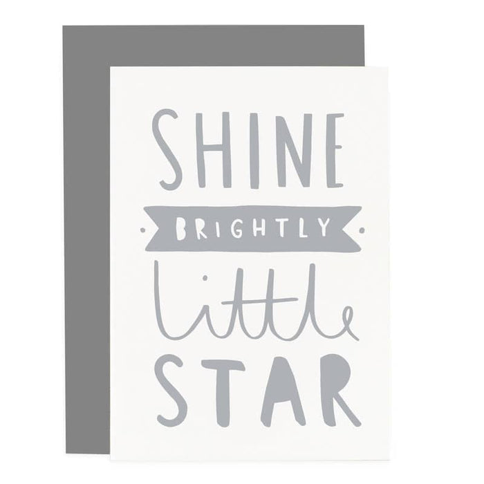 shine brightly little star card