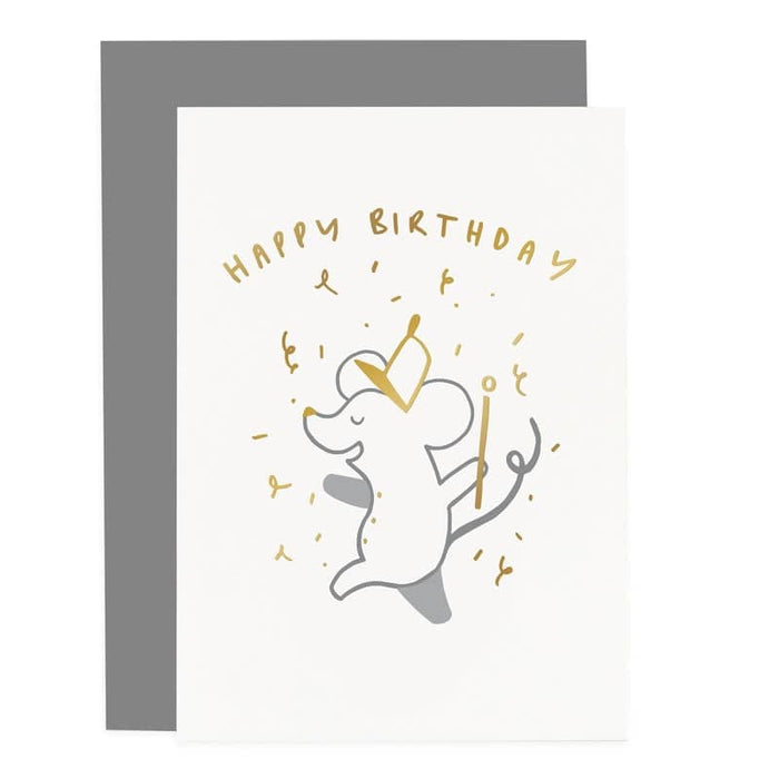birthday mouse marching band card