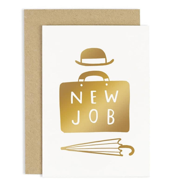 new job briefcase card