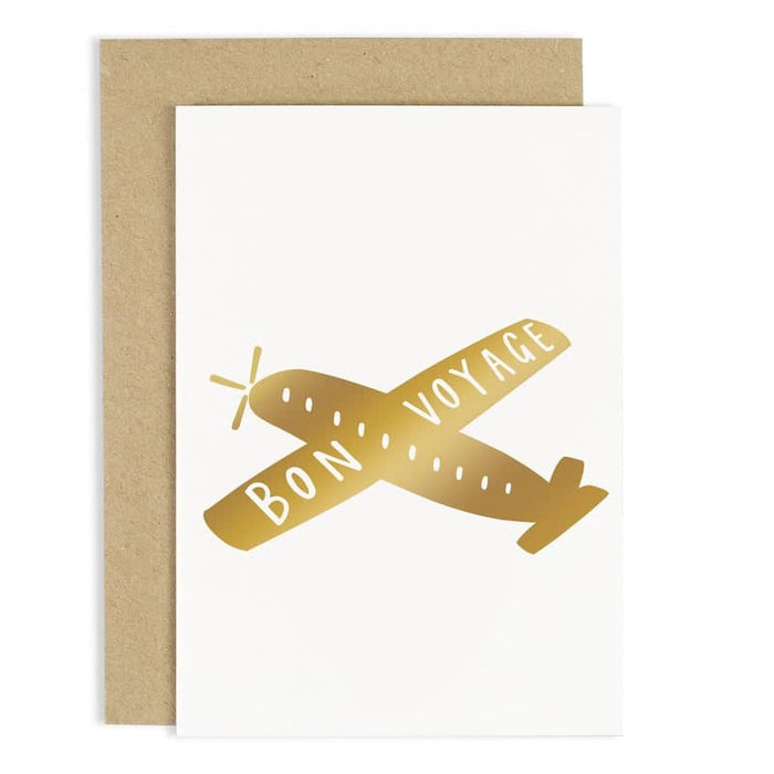 bon voyage airplane leaving card