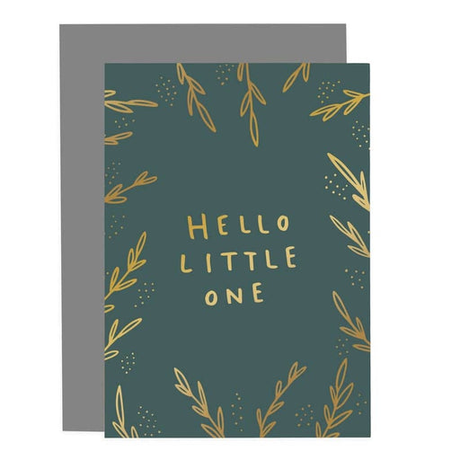 new baby hello little one card