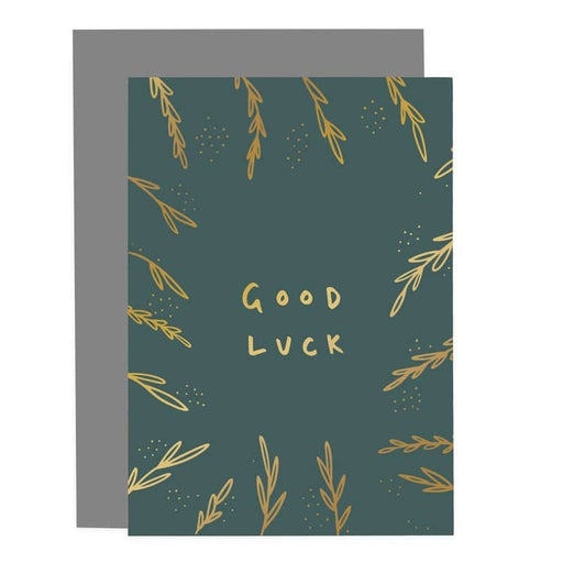 good luck greenery card