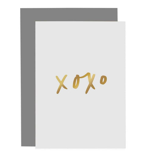 xoxo gold foil lettered card