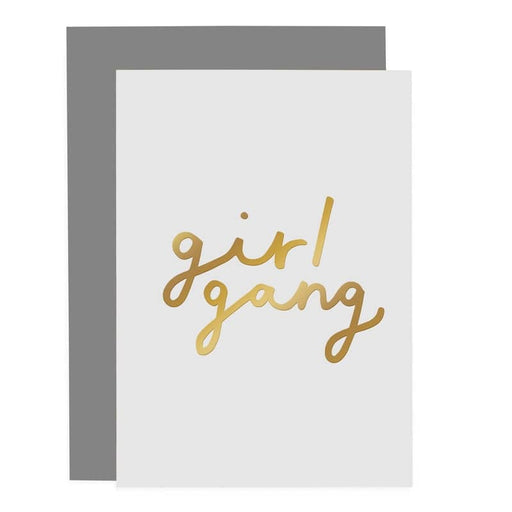 gold foil girl gang card