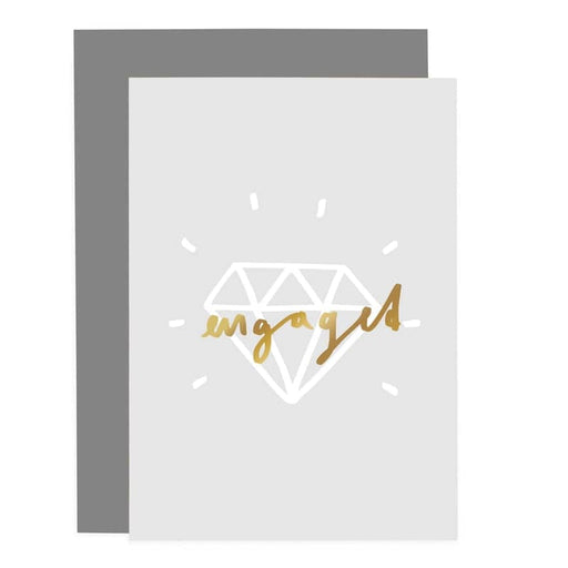 engaged ring greeting card