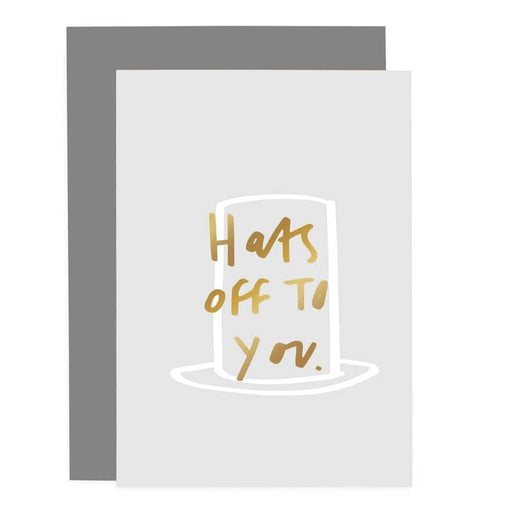 hats off to you greeting card
