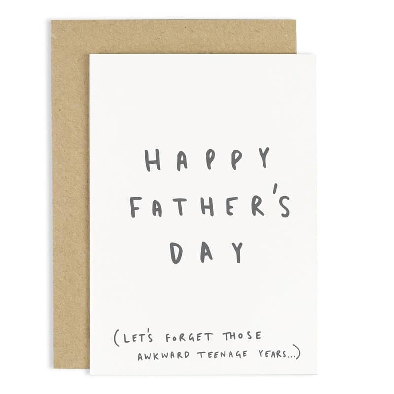 Awkward Years Father's Day Card
