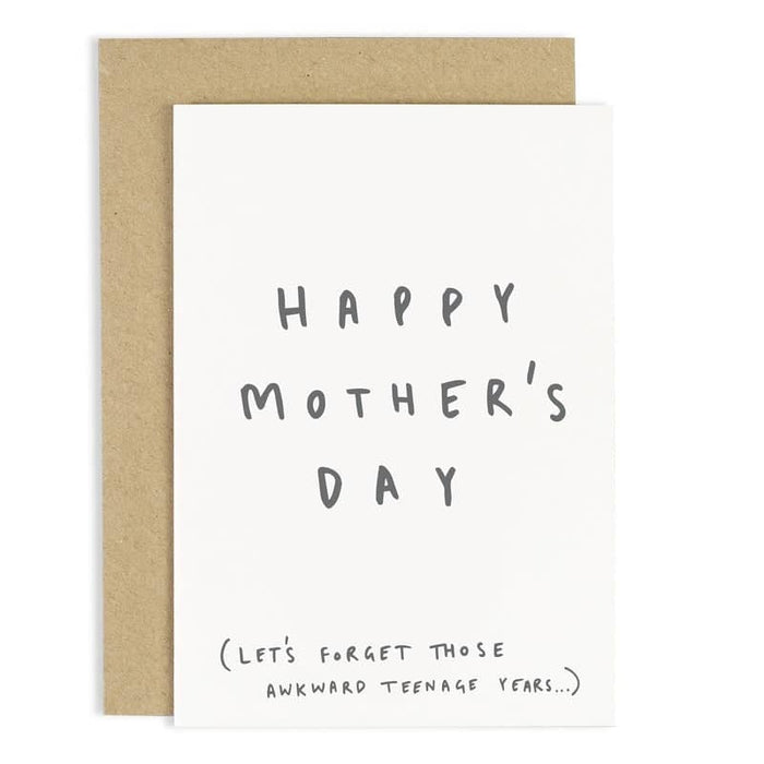 Awkward Teenage Years Mother's Day Card