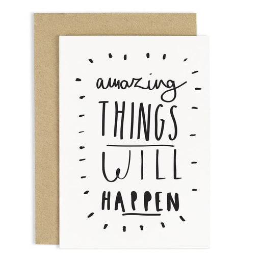 amazing things greeting card