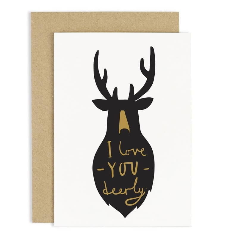 love you deer card