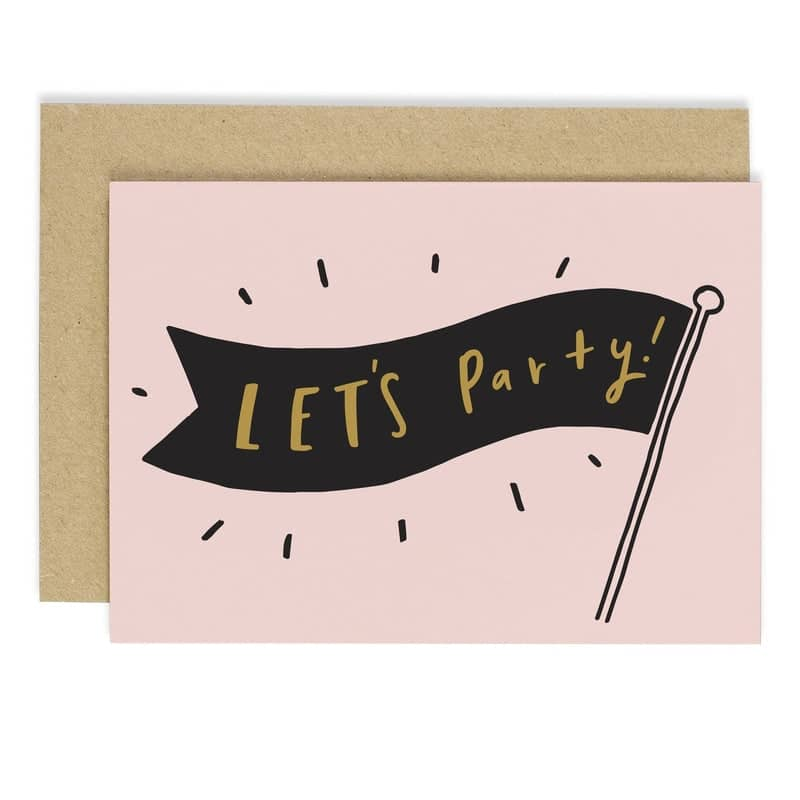 Let's Party Banner Card