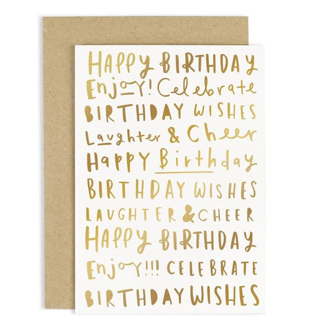 Birthday Words Card