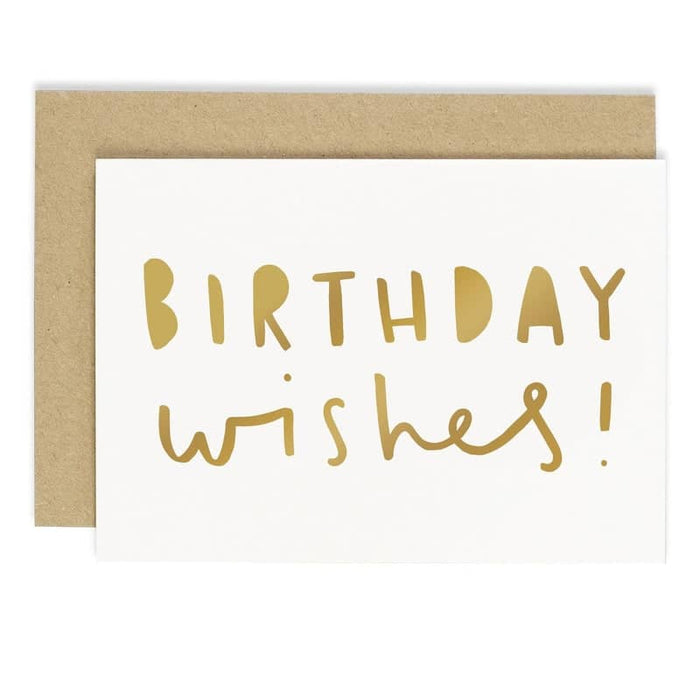 gold foil birthday wishes card