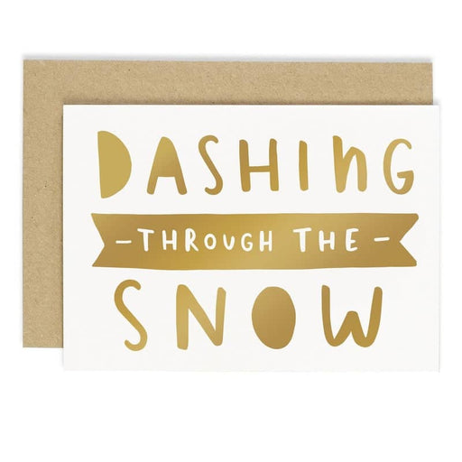 dashing through the snow christmas card