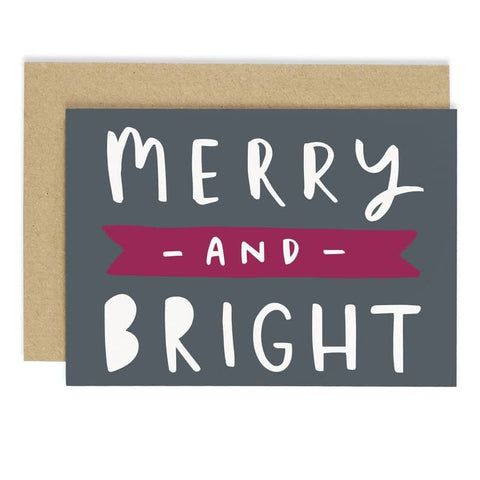 Merry and Bright Banner Card