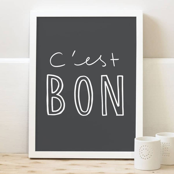c'est bon french typography print