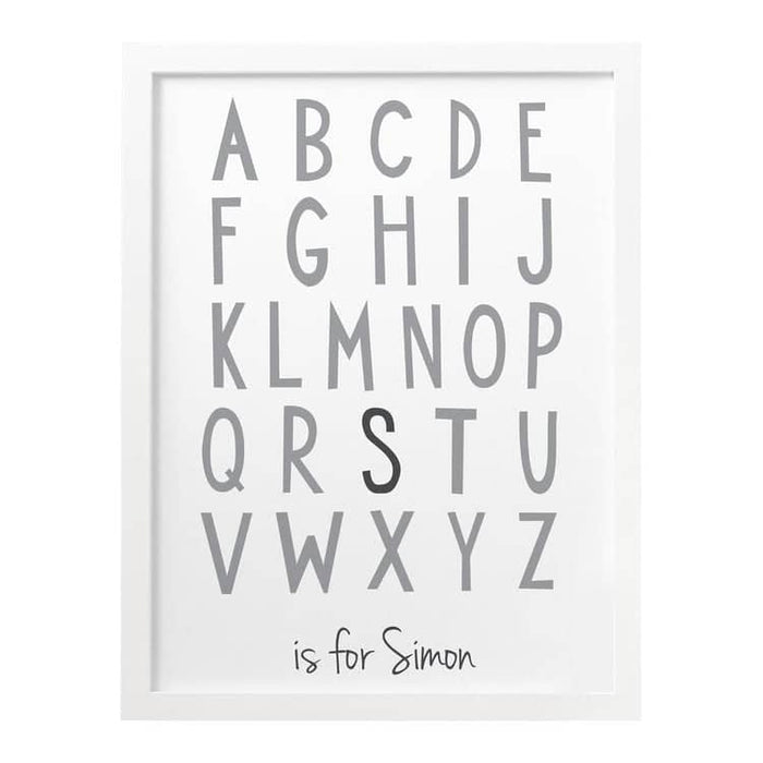 Children's Alphabet Personalised Print
