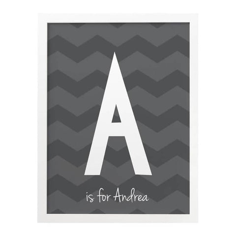Chevron Child's Personalised Print