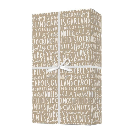 Christmas lettering gift wrap