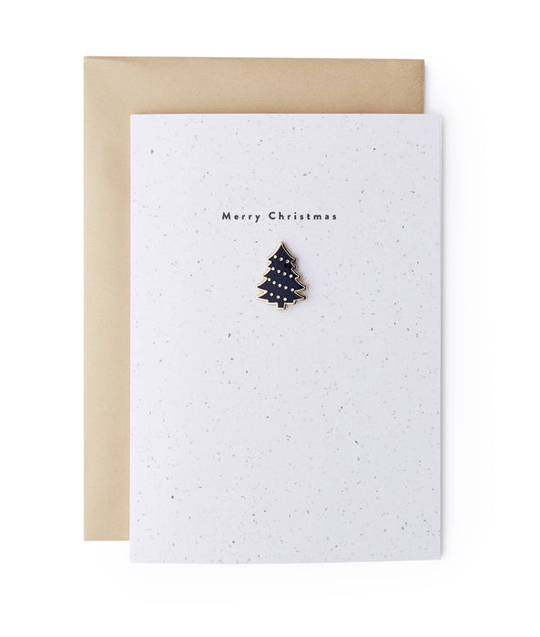 Christmas Tree Enamel Pin Card