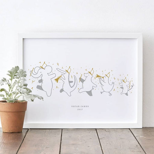 personalised animal nursery print