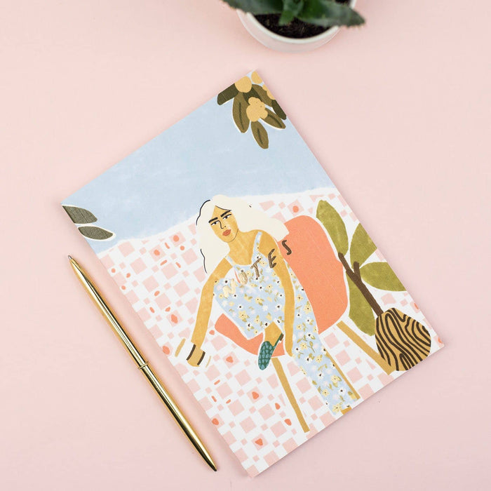 Coffee Drinking Linen Notebook