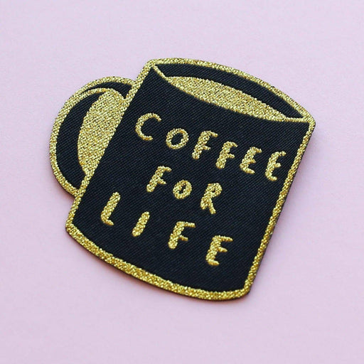 coffee embroidered patch